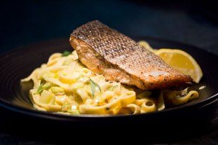 Fresh Tasmanian Salmon with Fettuccine